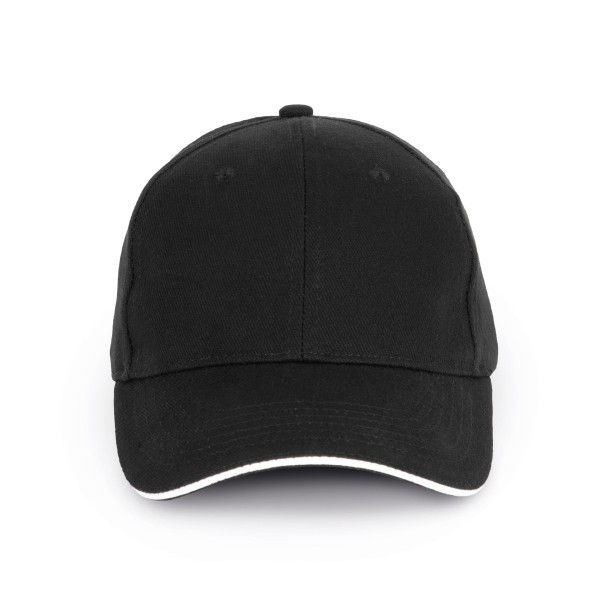 Organic Cotton Cap with Contrast Color on the Visor