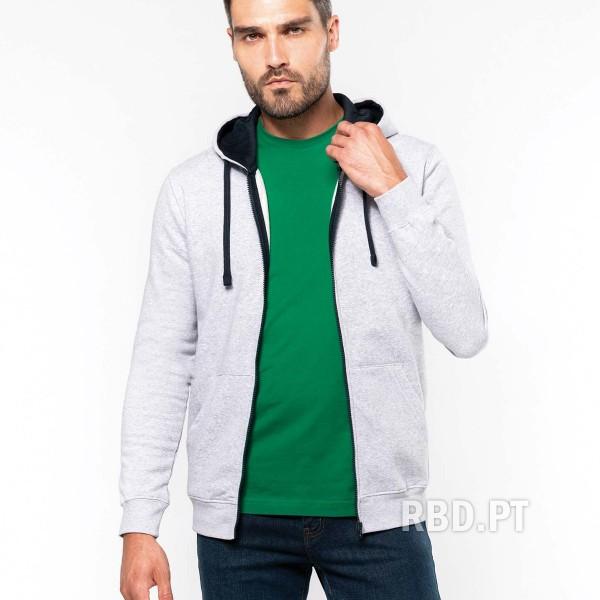 Men's Zip Up Sweatshirt with Hood Large Size 4XL