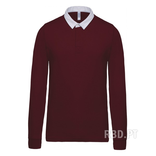 Men's Long Sleeve Polo Shirt Rugby