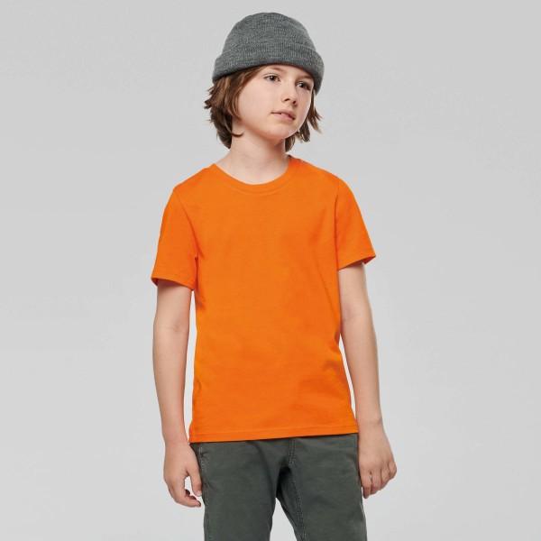 Kid's Round Neckline T-shirt in Organic Cotton