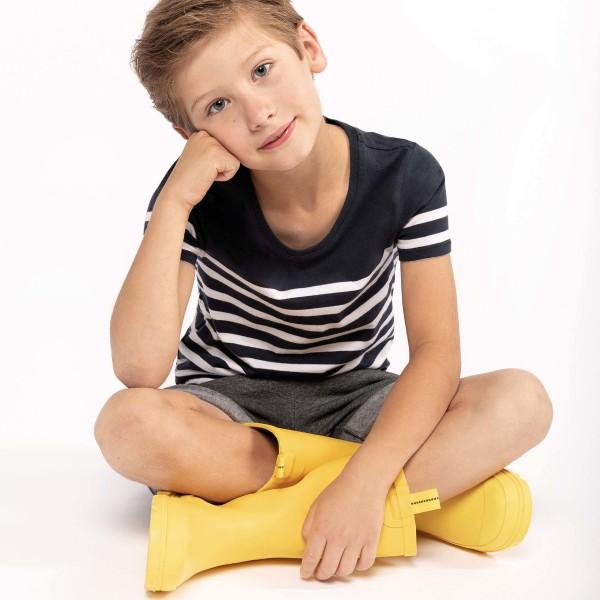 Kid's Organic Cotton Sailor Style T-shirt