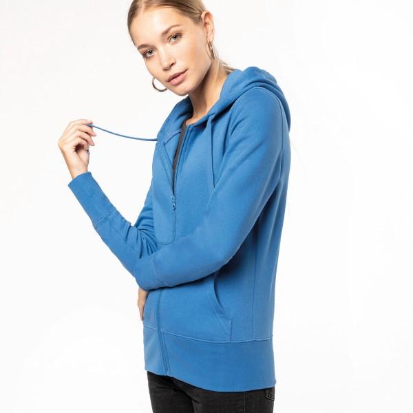 Women's Eco Responsible Zip Up Hooded Sweatshirt