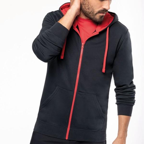 Casaco Sweatshirt com Capuz em Contraste para Homem