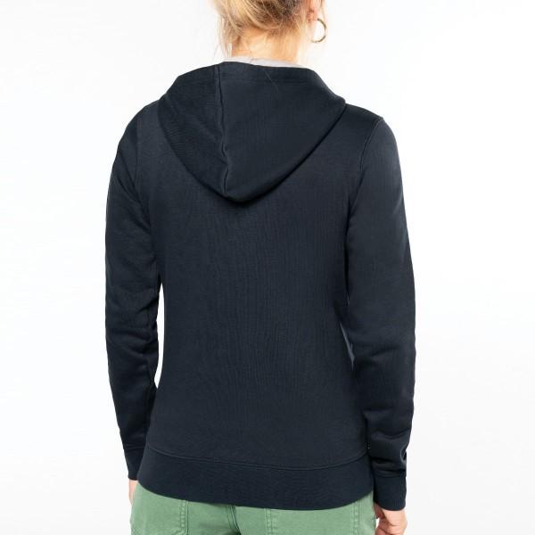 Casaco Sweatshirt com Capuz em Contraste para Mulher