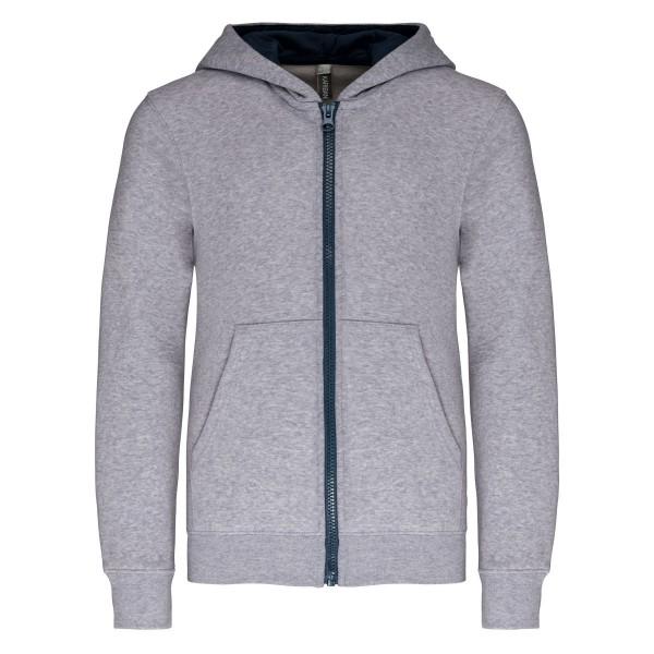 Kid's Zip Up Sweatshirt with Contrasting Hood