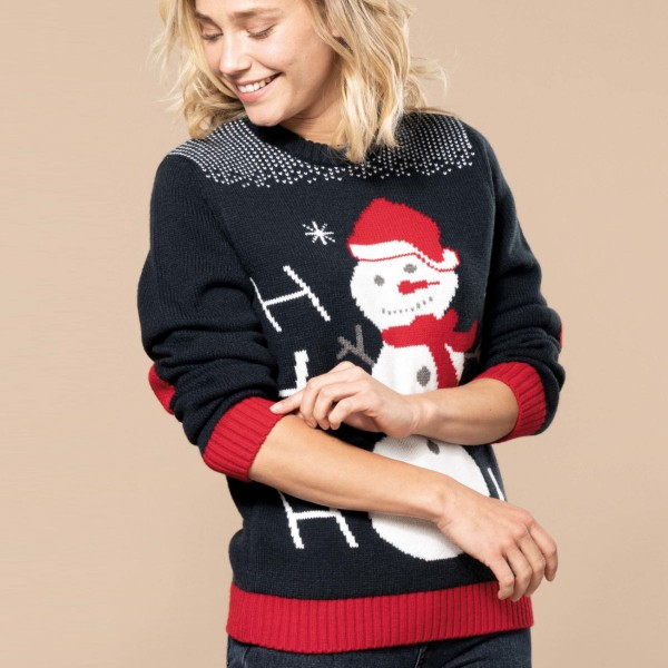 Adult Christmas Sweater Ho Ho Ho
