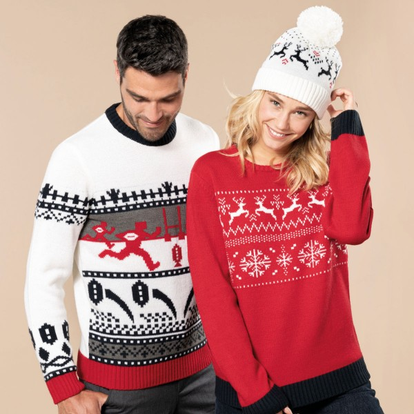 Adult Christmas Sweater Reindeer