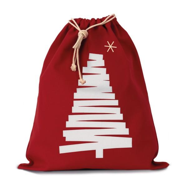 Saco de algodão com cordão - Árvore de Natal