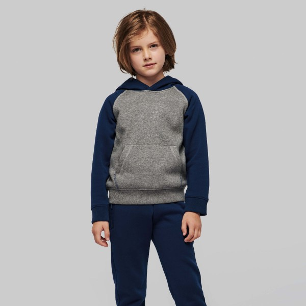 Kid's Two-tone Hooded Sweatshirt