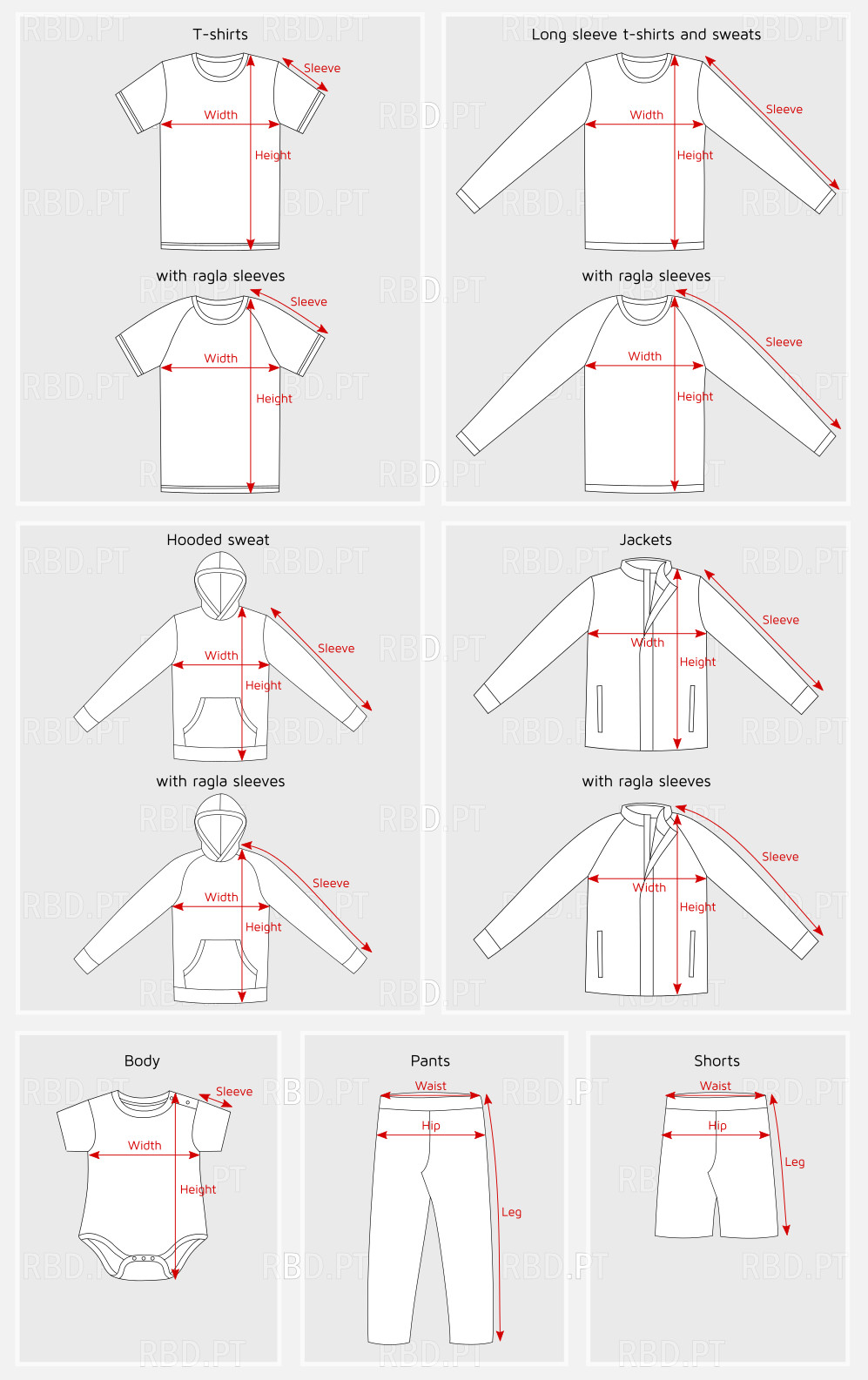 How you can measure the different types of clothing
